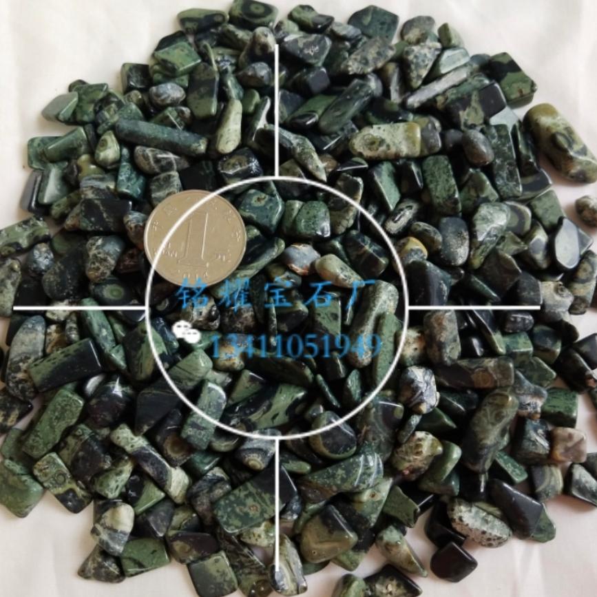 厂家直销 供应天然绿眼碎石 绿眼宝石不定形 绿眼宝石装饰材料