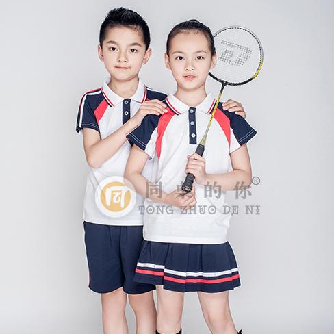 幼儿园园服夏季拼接运动套装小学生校服