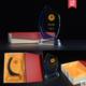 供应 琉璃奖杯定制创意刻字年会颁奖纪念水晶奖牌定做 乘风破浪 年会纪念品