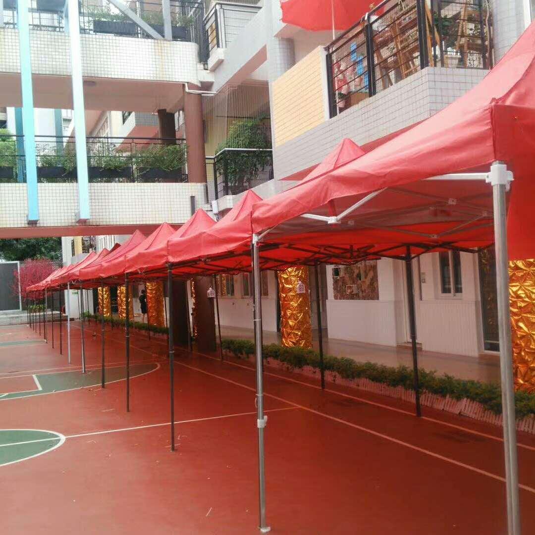 深圳3米直径四角广告帐篷折叠帐篷红色蓝色遮阳帐篷摆摊促销帐篷出租赁