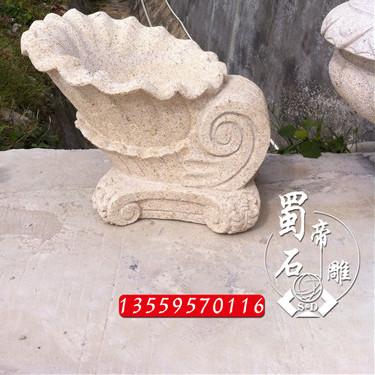 供应]石雕海螺喷水雕塑水池景观动物吐水摆件