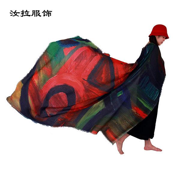 外贸围巾厂,专做外贸围巾加工厂家-汝拉服饰 定制神圣几何围巾
