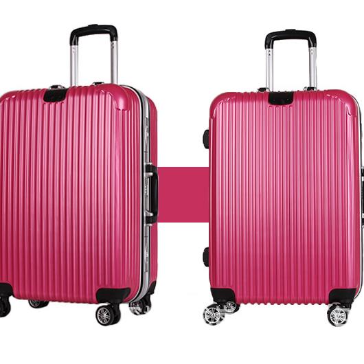 供应 铝框拉杆箱万向轮行李箱带扣旅行箱图片