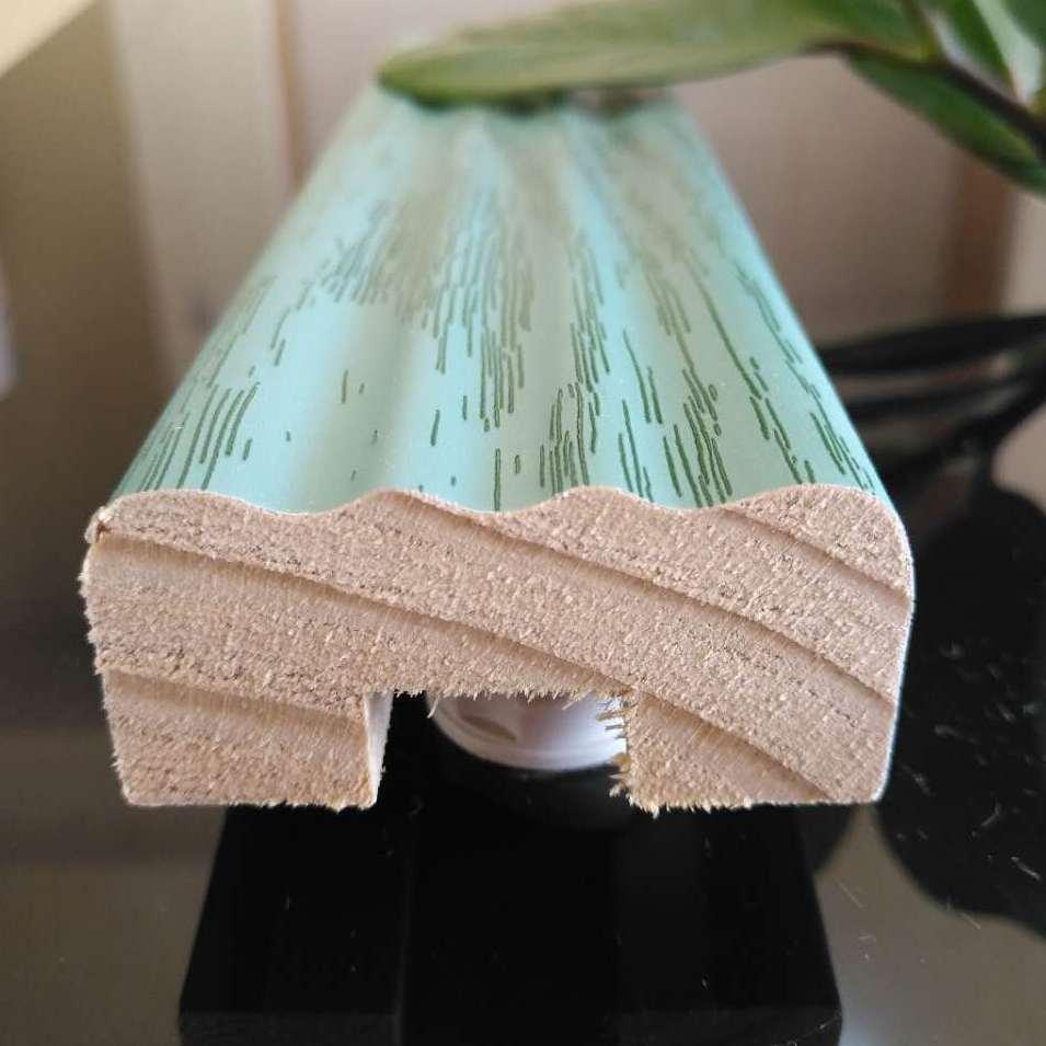 德式衣柜鞋柜罗马柱踢脚线实木PVC免漆包覆装饰线