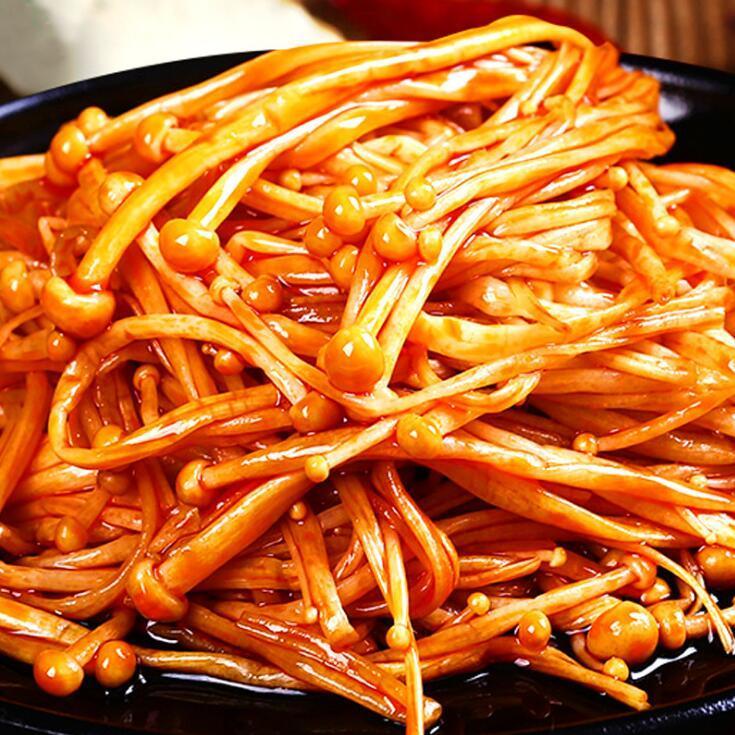 供应 金大州香辣金针菇整袋40包X15g食品四川特产厦门零食品一件代发