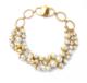供应 欧美时尚饰品批发 复古典雅玻璃珍珠多层女士短款项链