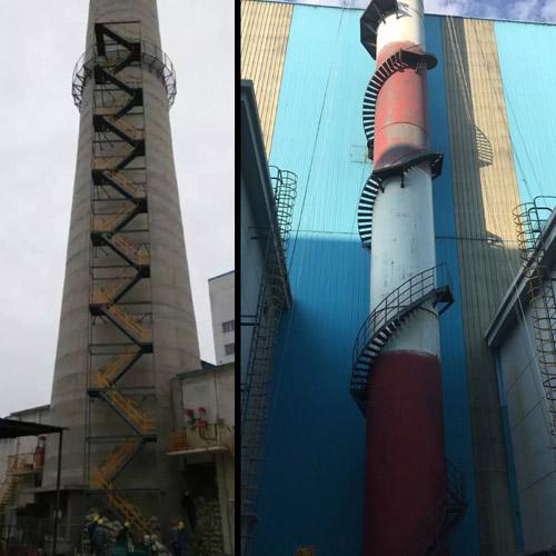 天津烟囱旋转梯 Z梯 折返梯 螺旋梯安装公司欢迎您