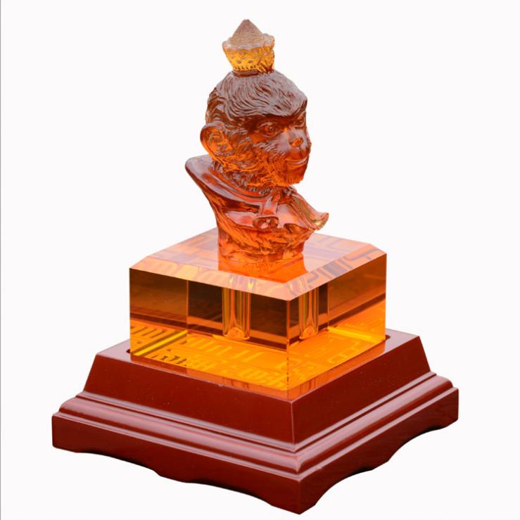 供应 古法琉璃生肖印章玉玺 水晶琉璃纪念品礼品 同学聚会礼品