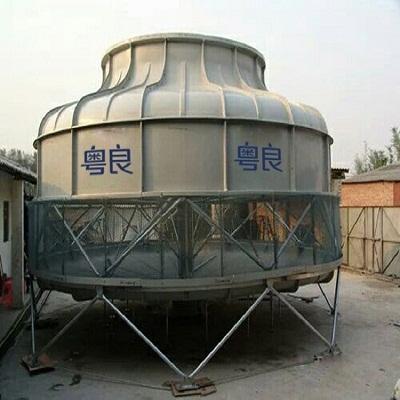 工业冷却塔 工业圆形玻璃钢冷却塔厂家400t-粤良专业服务