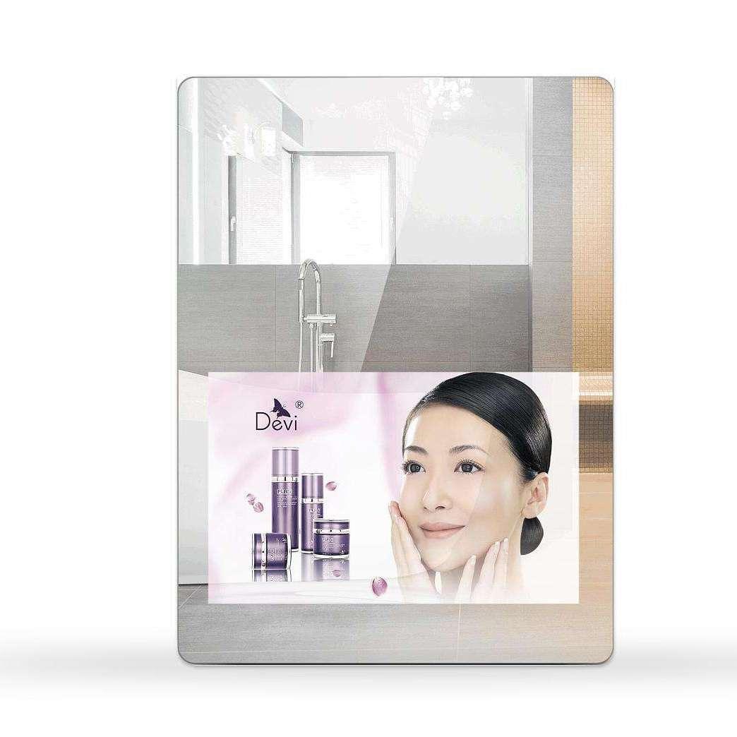 智能高清防雾LED灯镜洗手间浴室壁挂防水化妆镜子带灯无框卫浴镜