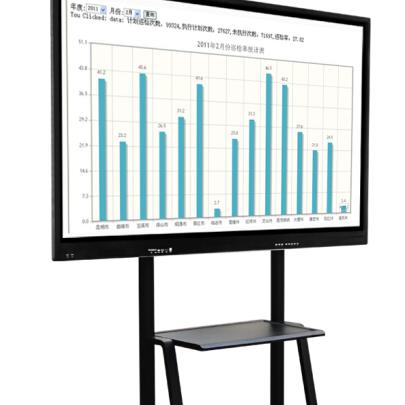 鑫飞智显65寸多媒体电子白板教学一体机壁挂触摸屏电视电脑