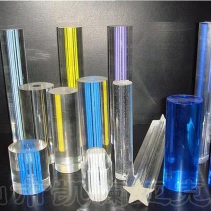 厂家大量供应亚克力透明彩色圆棒 PMMA彩色有机玻璃圆子棒 可定制