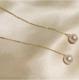 日本强光珍珠akoya珍珠耳钉耳环18K金耳线