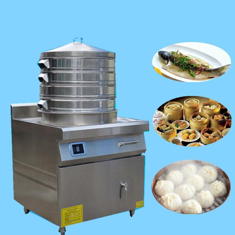 山西电磁蒸包炉 15千瓦电磁蒸包炉 食堂炒菜蒸馒头两用锅