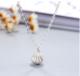 珍珠貝殼項鏈 扇形外殼內含珍珠吊墜鎖骨鏈 時尚精品