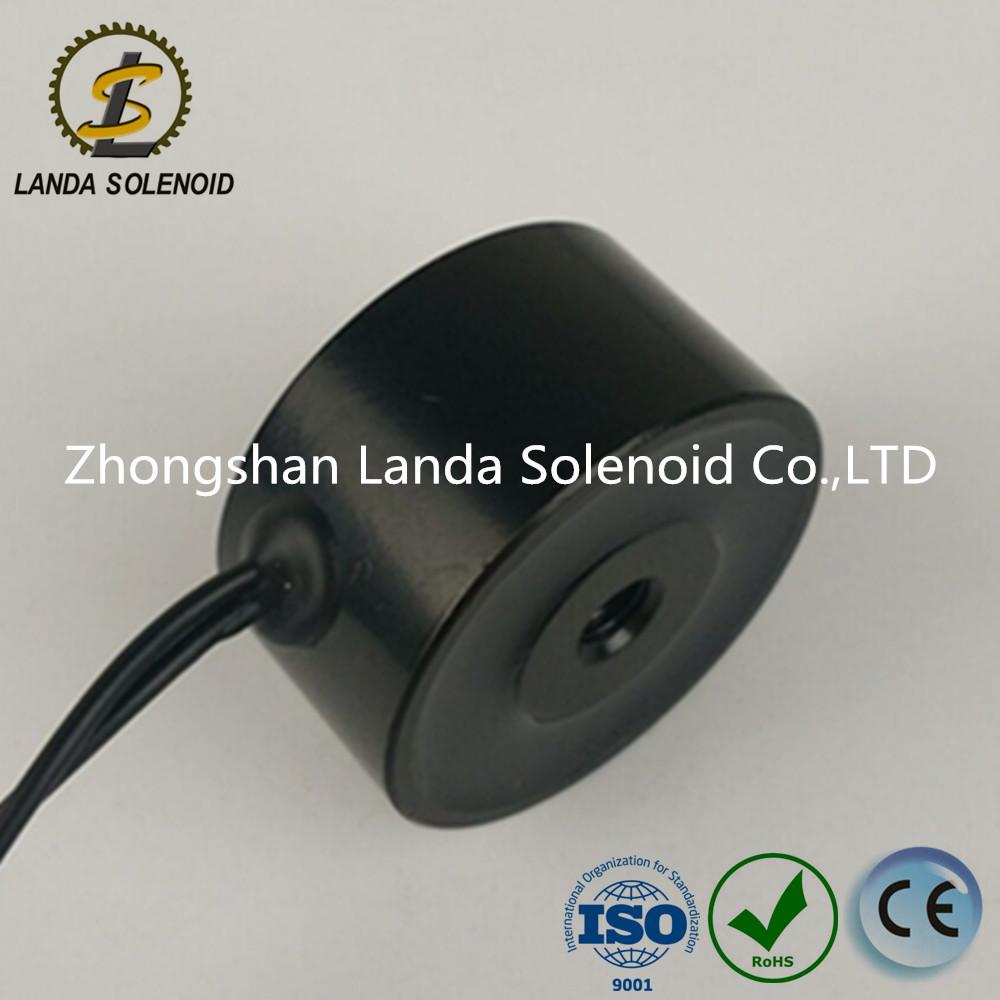 起重电磁铁 圆形吸盘式电磁铁 兰达厂家直销 24V H3418