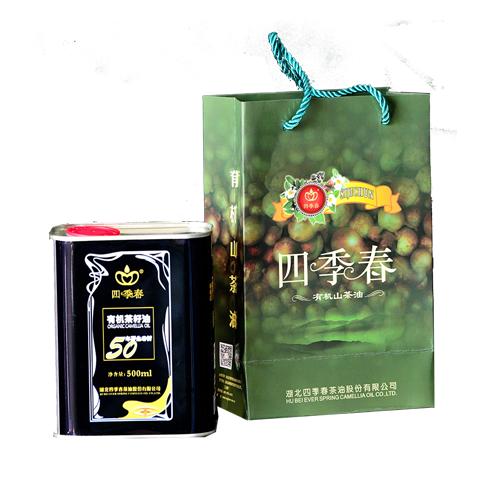四季春有机茶籽油天然野生纯正茶籽油 铁罐盒装食用油农家