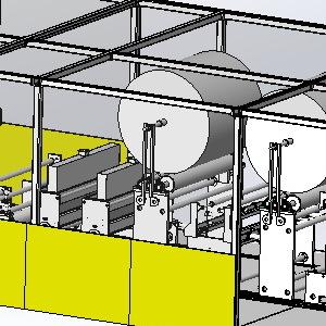 东莞技源JY-XT1200复合5层纸尿裤芯体复合机机
