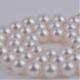 南珠世家 8.0-8.5mm白色北海天然珍珠項鏈 簡約經典串珠珍珠項鏈
