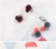 新款韓國氣質燈籠球裝飾耳環 復古創意花朵圓圈耳飾手工珍珠飾品
