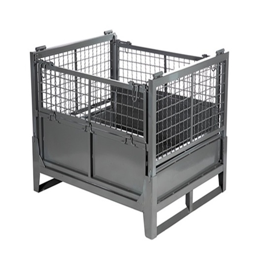专业定制大型金属折叠箱 大号周转箱 可折叠仓储笼 可移动蝴蝶笼 物流货架 物流台车等