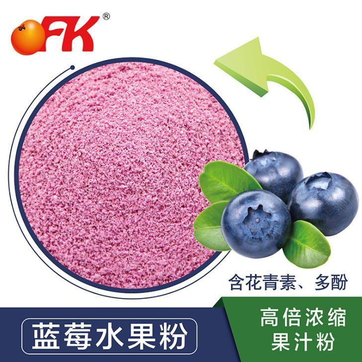 供應 OFK牌臺灣進口固體飲料原料輔料藍莓水果粉高倍濃縮果汁粉速溶