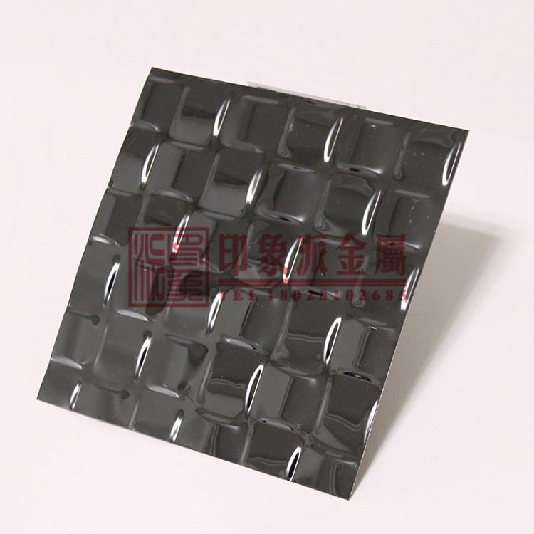 不锈钢冲压镜面编织板供应 304压花镜面黑钛不锈钢墙面装饰板