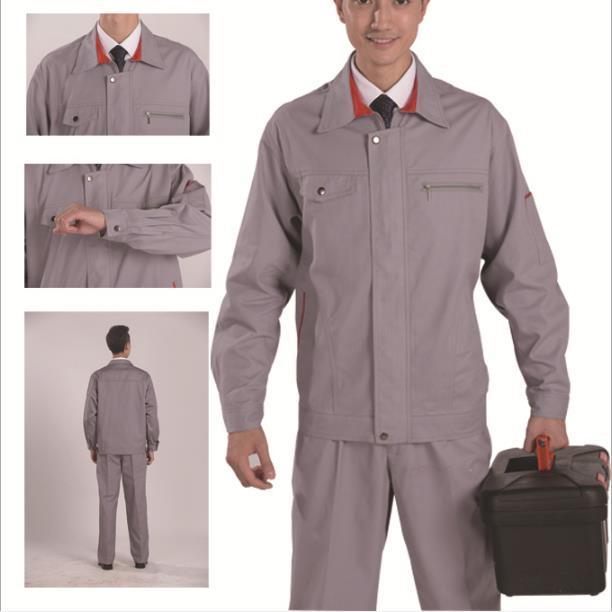 供应 X800全棉加厚纱卡(磨毛)套装工作服工装防寒