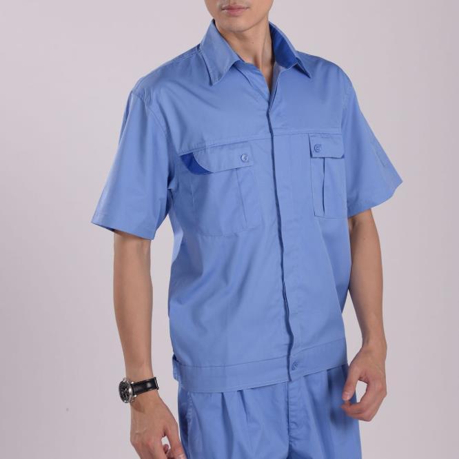 供应 2310涤棉细斜纹 上衣工作服 普通工装