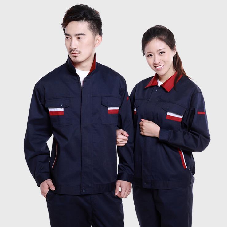 供应 秋冬工作服员工厂服订做加工长袖套装劳保工程服工装工衣