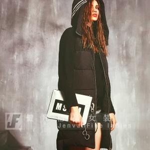 韩版时尚女式羽绒服尾货|品牌折扣女装库存|专柜女装货源批发