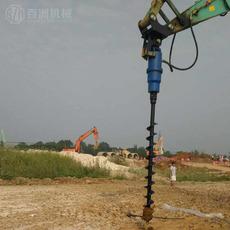 挖掘机上装螺旋钻BZ10000挖坑钻快速钻孔机