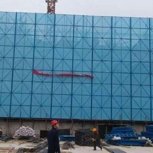 高层建筑爬架网 工地冲孔钢板网墙 新型建筑墙面洞洞板网