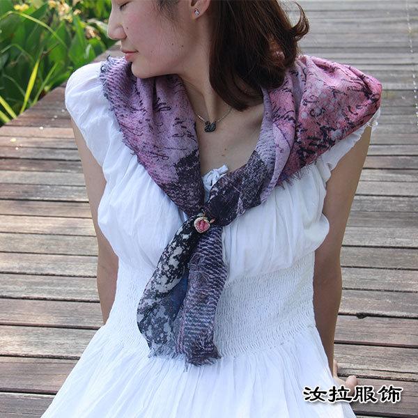 圍巾工廠,浙江印花圍巾加工廠,定制色彩靈動品質圍巾-汝拉服飾