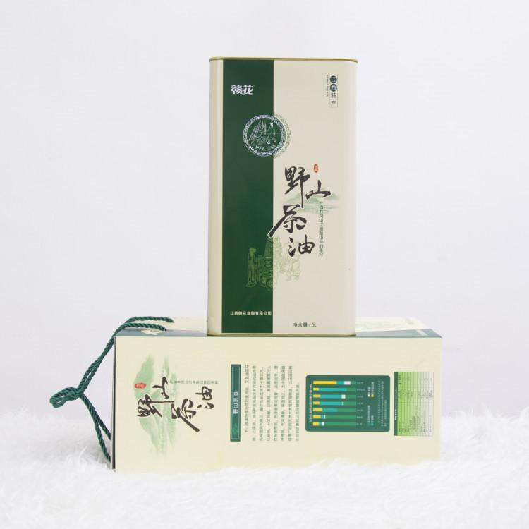 厂家直销赣花头道山茶油5L铁桶装茶籽食用油