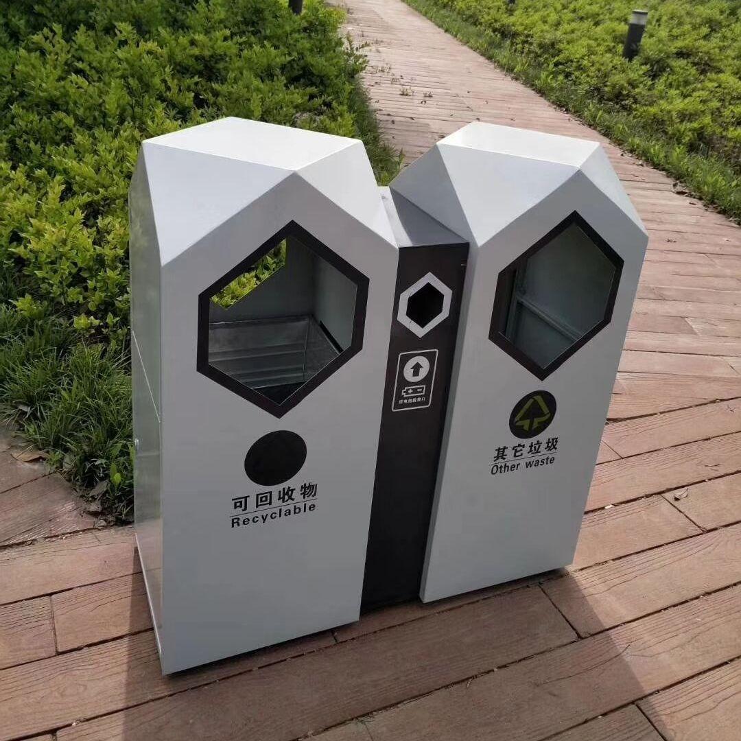 镀锌板垃圾桶 白钢垃圾桶 分类垃圾桶有几种