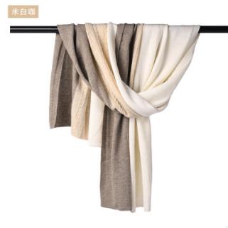 供应 新款内蒙古厂家批发现货羊绒3色针织围巾SCD0109时尚姣花披肩