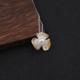 供应 S925原创设计气质唯美双色天然珍珠三叶花三叶草吊坠项链淑女饰品