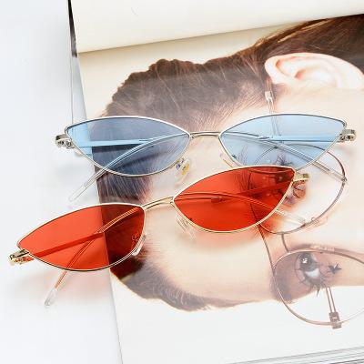供应 新款GVM猫眼款太阳镜女 欧美时尚街拍眼镜韩版小框墨镜