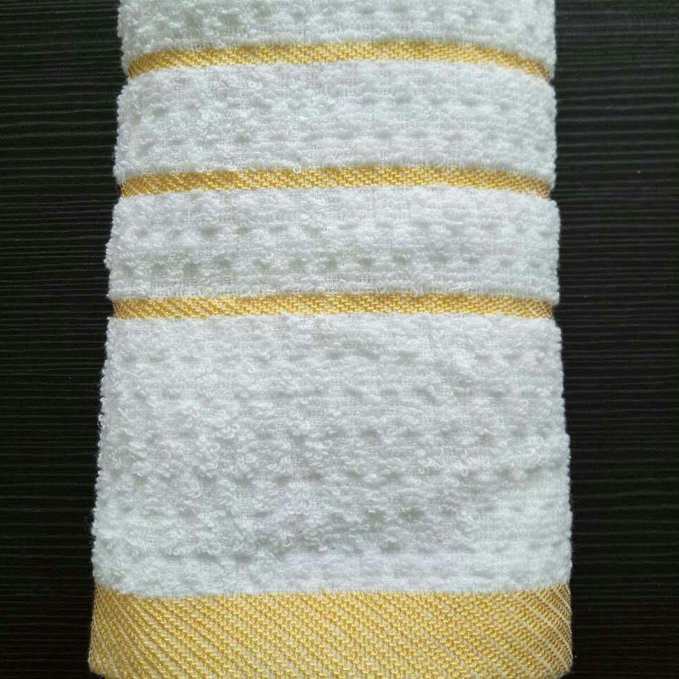 廠家直銷 純棉21支紗白毛巾 賓館酒店毛巾 一次性洗浴毛巾批發