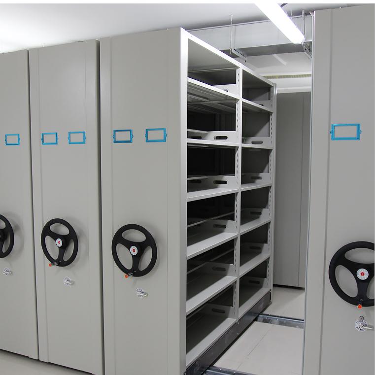 智能密集架 移动档案密集柜 档案室密集资料架 手摇密集架钢制轨道档案柜 资料柜