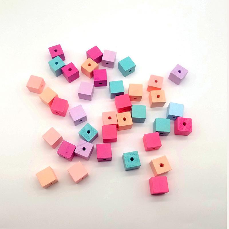 供应  糖果色几何正六面体带孔彩色