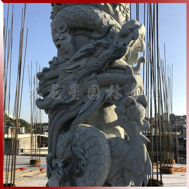 广场龙柱雕刻 古田青石雕龙柱工艺品摆件 支持来图加工定制