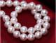供应 近正圆白色珍珠项链 送妈妈婆婆款生日礼物 正品女