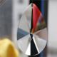供应 中式水晶玻璃梨形吊坠 diy珠帘灯饰 白水晶工艺品 灯具配件