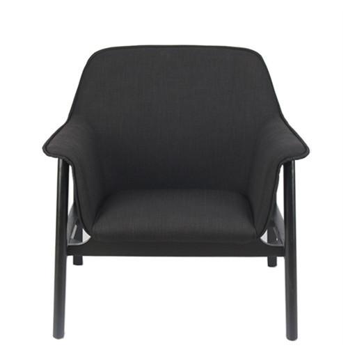 休闲椅简约实木椅北欧创意扶手椅单人沙发椅布艺简约现代椅