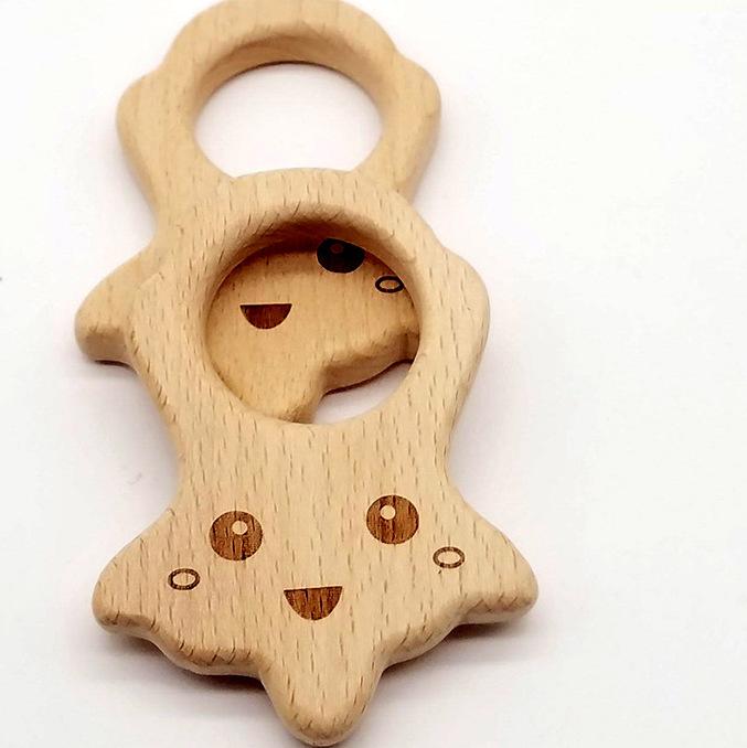 供应 环保便携儿童榉木磨牙玩具