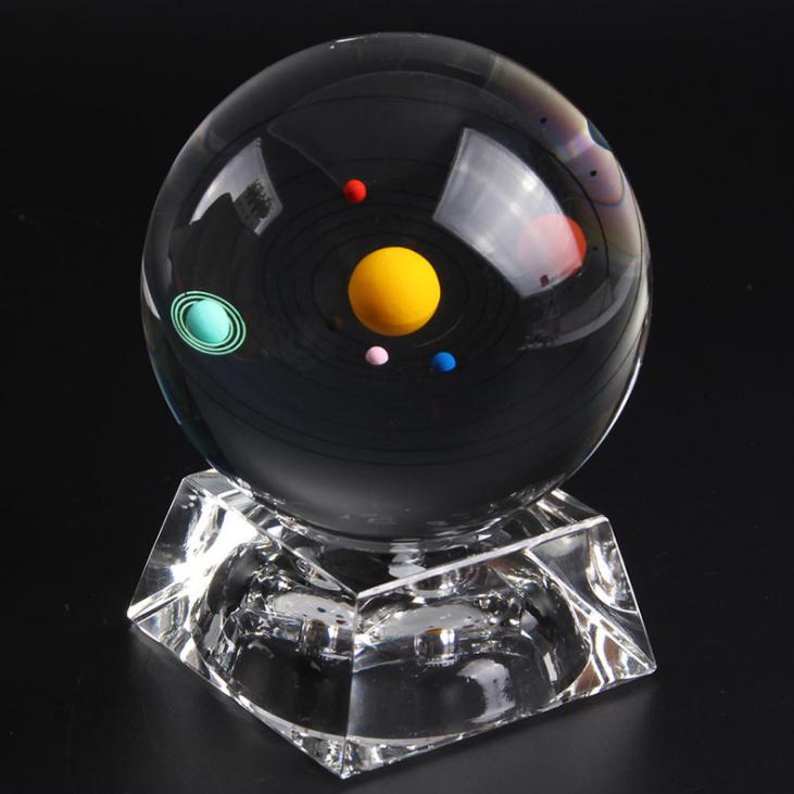 供应 水晶天体球 3D内雕 水晶球摆件 优选纪念品 厂家直销