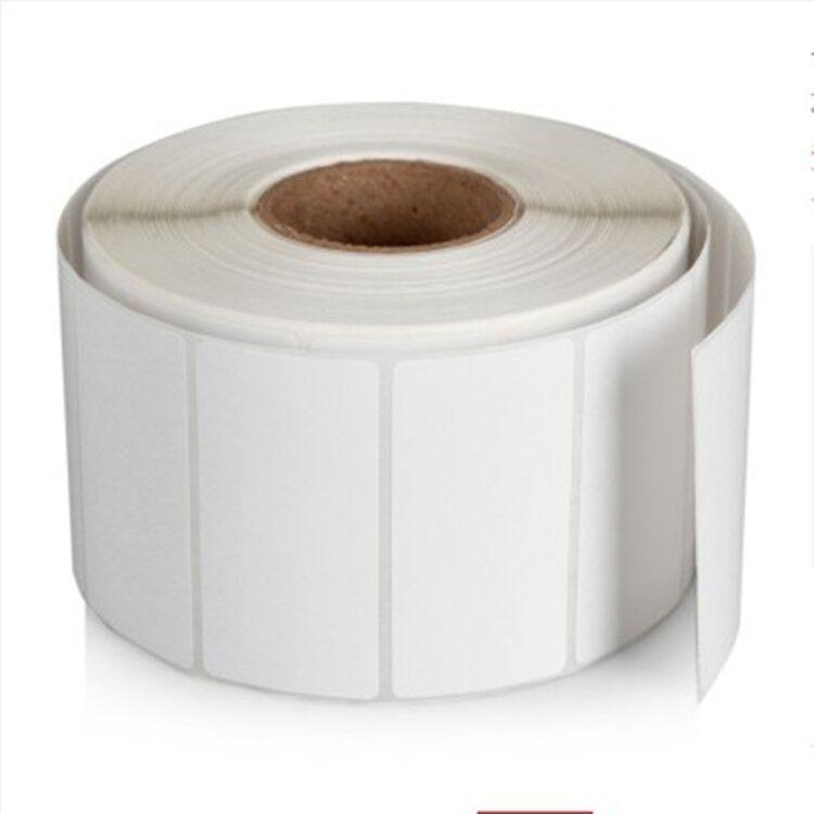 铜版纸不干胶卷筒标签 贴纸90×60×1000张碳带打印纸
