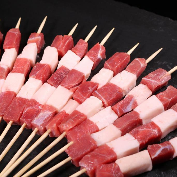 供应 内蒙古羊肉串 新鲜苏尼特羔羊肉 厂家直销批发冷冻食材